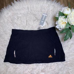• Adidas Reflective Black Tennis Running Skort •